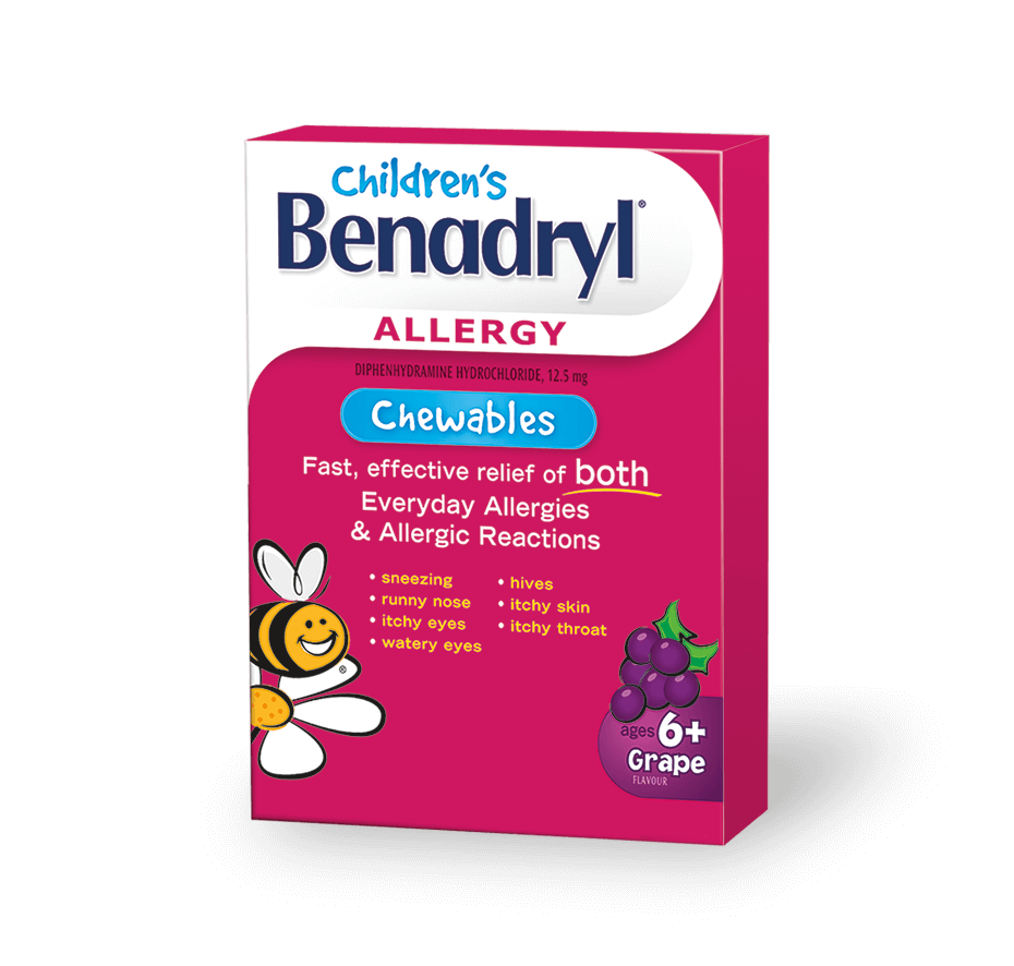 DailyMed - CHILDRENS BENADRYL CHEWABLES- …
