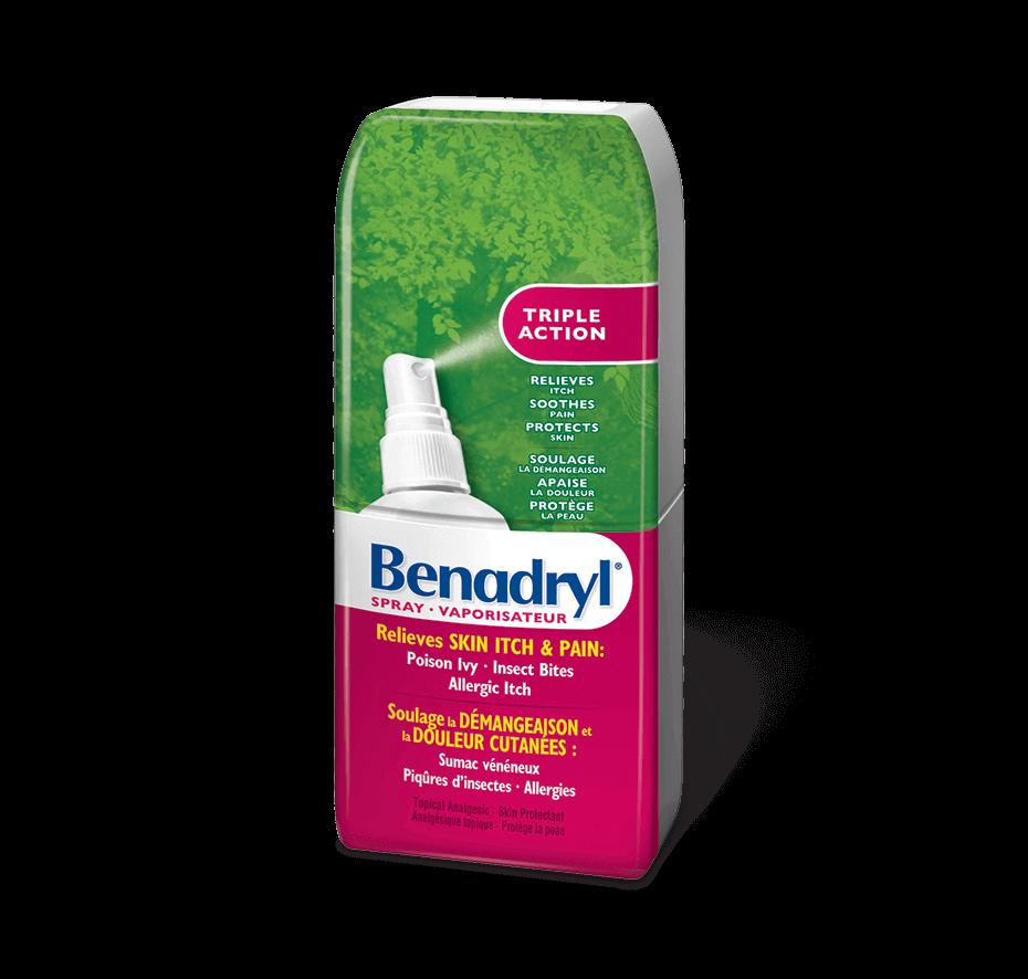 Benadryl's Triple Action Bug Bite Itch Relief Spray