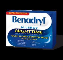 Extra Strength BENADRYL® Nighttime Caplets
